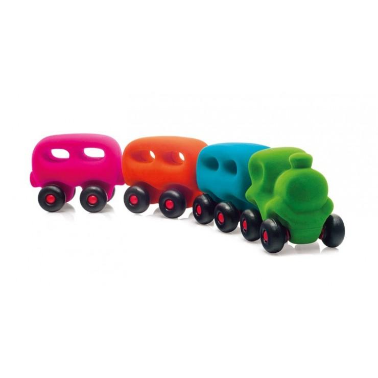 Pociąg z 3 magnetycznymi wagonami sensoryczny Rubbabu