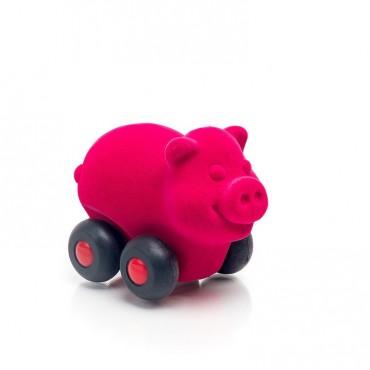 Świnka pojazd sensoryczny różowa mikro Rubbabu