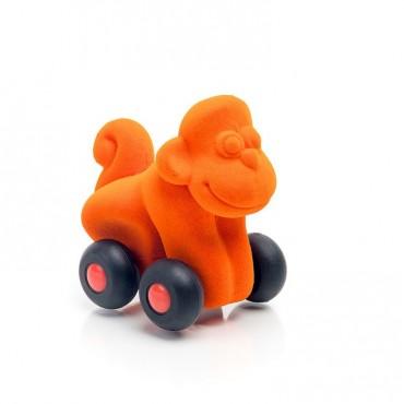 Małpka pojazd sensoryczny pomarańczowy mikro Rubbabu