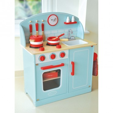 Drewniana kuchnia błękitna Indigo Jamm