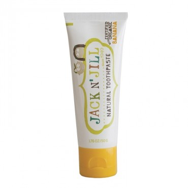 Naturalna, organiczna pasta do zębów dla dzieci, bananowa, 50 g, Jack N' Jill