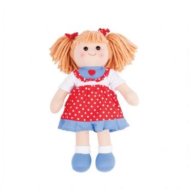 Lalka - Emily (34 cm) czerwona sukienka w kropki BJD042 Big Jigs