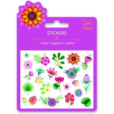 Naklejki z brokatem Kwiatki Djeco
