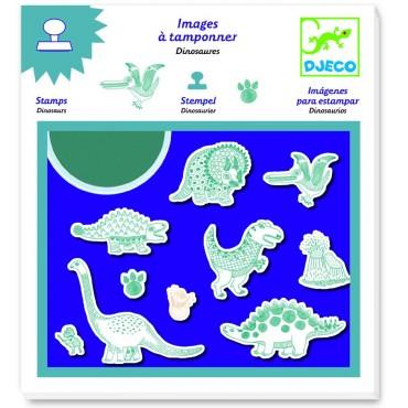 Zestaw stempli z tuszem Dinozaury Djeco