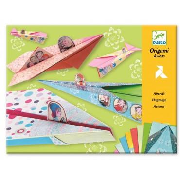 Origami Tęczowe samoloty Djeco
