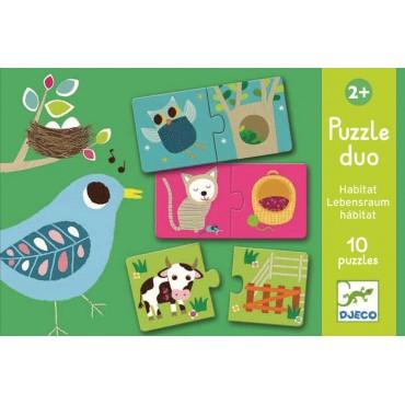 Puzzle duo Zwierzątka Djeco