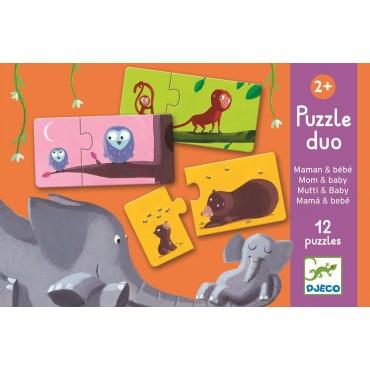 Puzzle duo Łączenie mam i dzieci Djeco