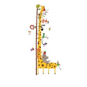 Naklejka z miarką wzrostu Żyrafa Djeco