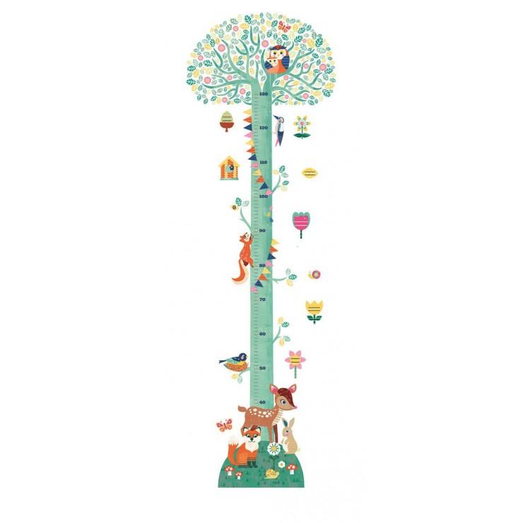 Naklejka z miarką wzrostu Drzewo Djeco