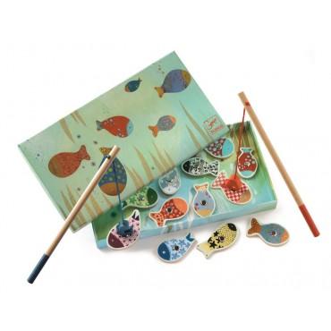 Gra drewniana wędkowanie rybki Djeco