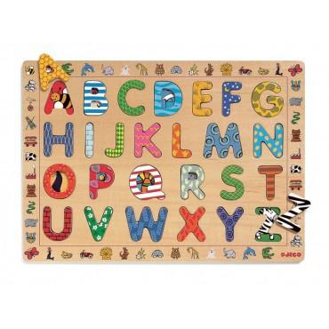 Drewniany alfabet ABC Djeco