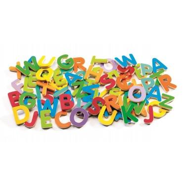 83 Kolorowe literki magnetyczne Djeco