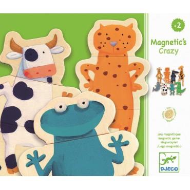 Puzzle drewniane magnetyczne zwierzątka Djeco