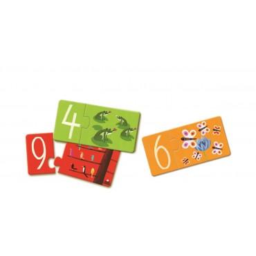 Puzzle łączenie liczb Djeco