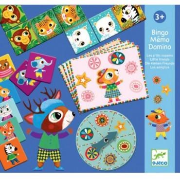 Gry edukacyjne-Bingo-Memo-Domino Djeco
