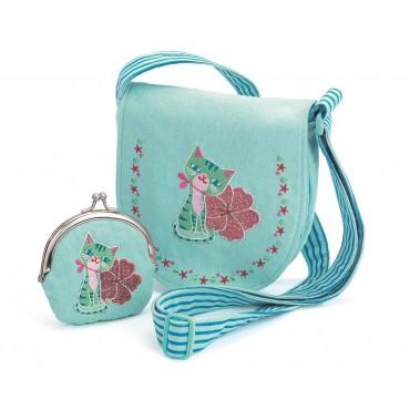 Zestaw torebka z portfelikiem Kotek Djeco