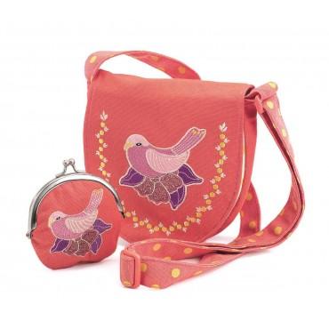 Zestaw torebka z portfelikiem Ptak Djeco