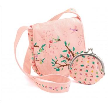 Torebka z portfelikiem różowa Djeco