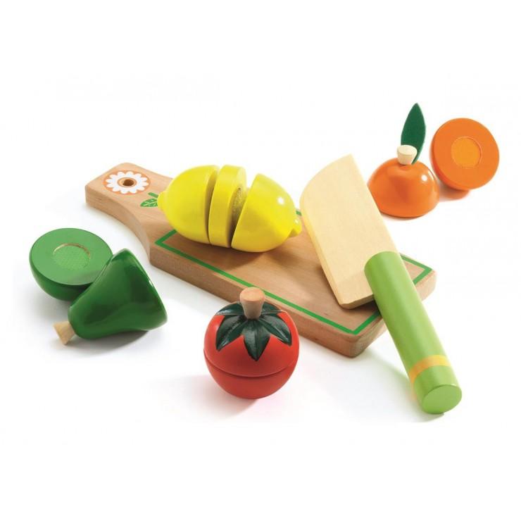 Drewniane warzywa i owoce do krojenia Djeco