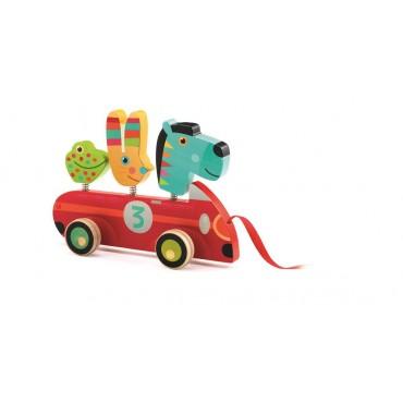 Drewniana zabawka do ciągania Zebra Djeco