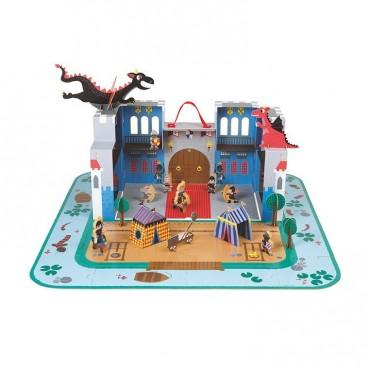 Zamek rycerski w walizce Janod