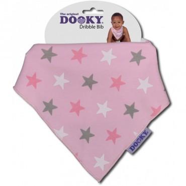 Bandamka Dribble Bib Pink Stars Dooky