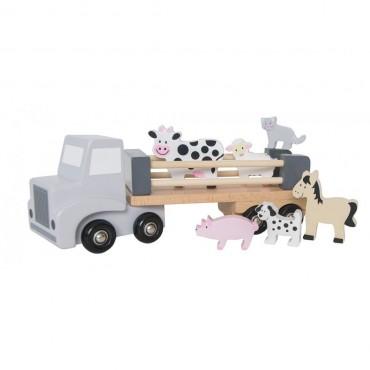 Drewniana ciężarówka ze zwierzętami Jabadabado