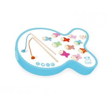 Gra Łowimy Rybki jasnoniebieskie Scratch