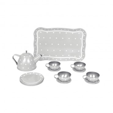 Serwis do herbaty szary Jabadabado