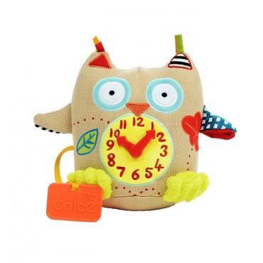 Mój pierwszy zegar Sówka zabawka sensoryczna Dolce