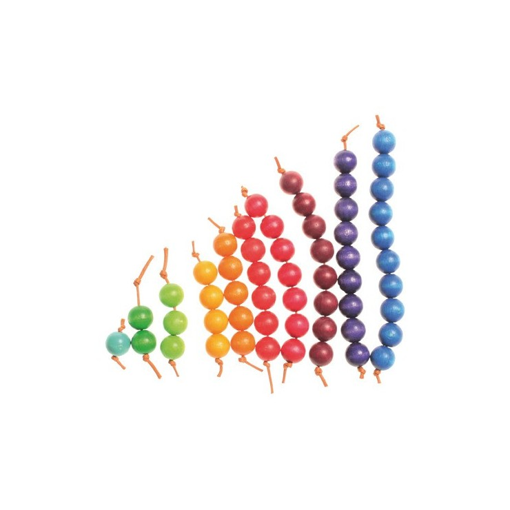 Kolorowe schodki z koralików 3+ Grimm's