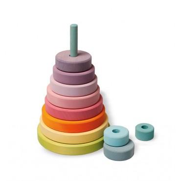 Duża pastelowa wieża stożkowa 0+ Grimm's