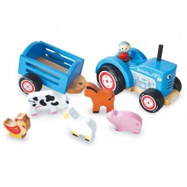Drewniany traktor Tima Indigo Jamm