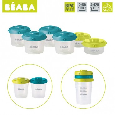 Beaba Zestaw słoiczków Clip 6 szt. 60 ml i 120 ml