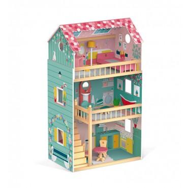 Domek dla lalek XL z 12 akcesoriami Happy Day Janod