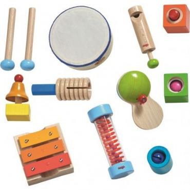 Duży zestaw instrumentów muzycznych Habe