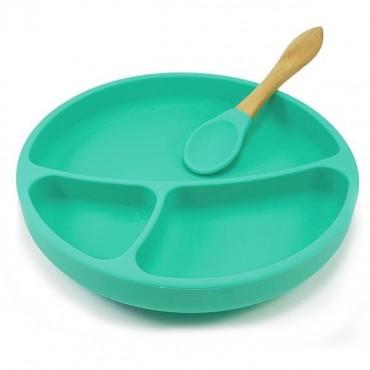 Talerzyk silikonowy zielony Minikoioi