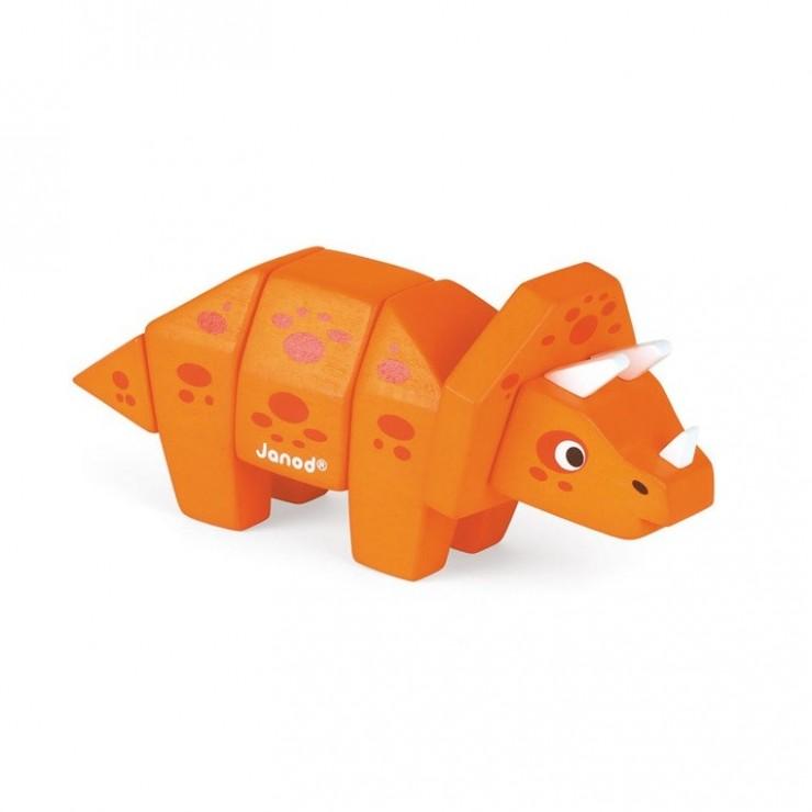 Triceratops drewniany do złożenia Janod