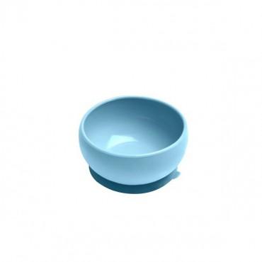 Miseczka silikonowa z pokrywką niebieska Minikoioi