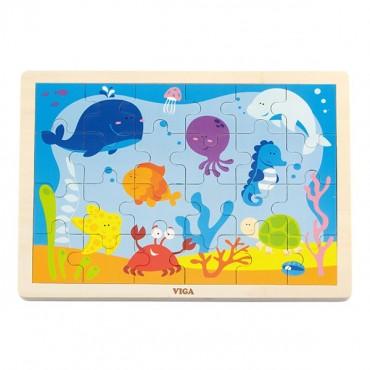 Puzzle na podkładce 24 elementy - ocean Viga