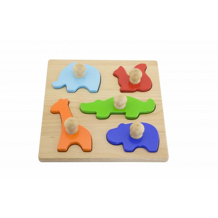 Stemple drewniane - zwierzęta Viga