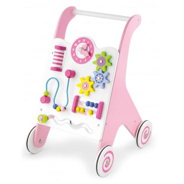 Edukacyjny chodzik dla dzieci pink Viga