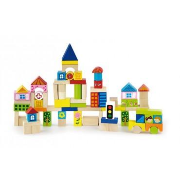 Klocki 75 elementów - miasto Viga