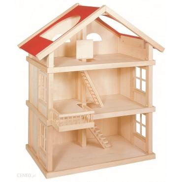 Duży trzypiętrowy domek dla lalek Goki