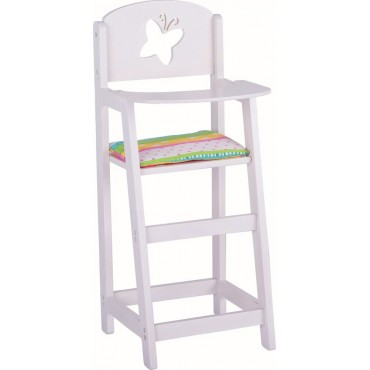 Białe krzesełko do karmienia lalek Susibelle Goki