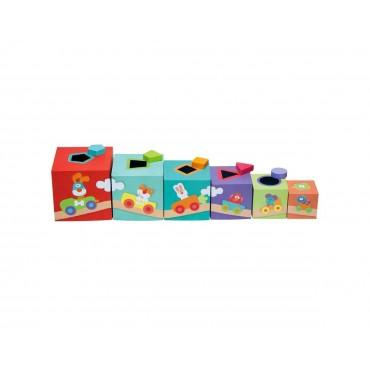 Kolorowe pudełka, Sorter dla dzieci Farma Sevi
