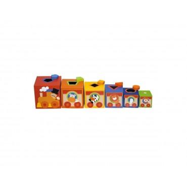 Kolorowe pudełka, Sorter dla dzieci Cyrk Sevi