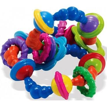 Kolorowa grzechotka do skręcania gryzak Manhattan Toy
