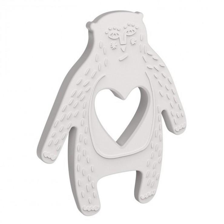 Silikonowy gryzak Niedźwiadek Albin Manhattan Toy