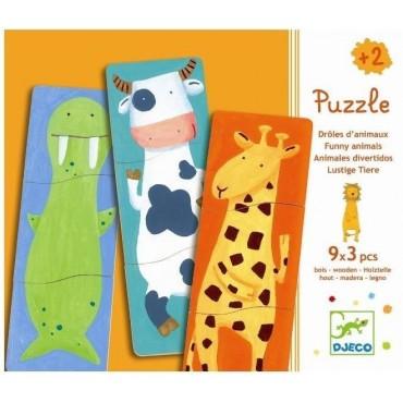 Puzzle drewniane Zwierzaki Djeco